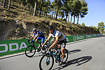 World Champion Peter Sagan (SVK) Bora-Hansgrohe, Italian National Champion Elia Viviani (ITA) and Fabio Sabatini (ITA) Quick-Step Floors descend Sierra de la Alfaguara after Stage 4 of the La Vuelta 2018, running 162km from Velez-Malaga to Alfacar, Sierra de la Alfaguara, Andalucia, Spain. 28th August 2018.<br /> Picture: Eoin Clarke | Cyclefile<br /> <br /> <br /> All photos usage must carry mandatory copyright credit (&copy; Cyclefile | Eoin Clarke)