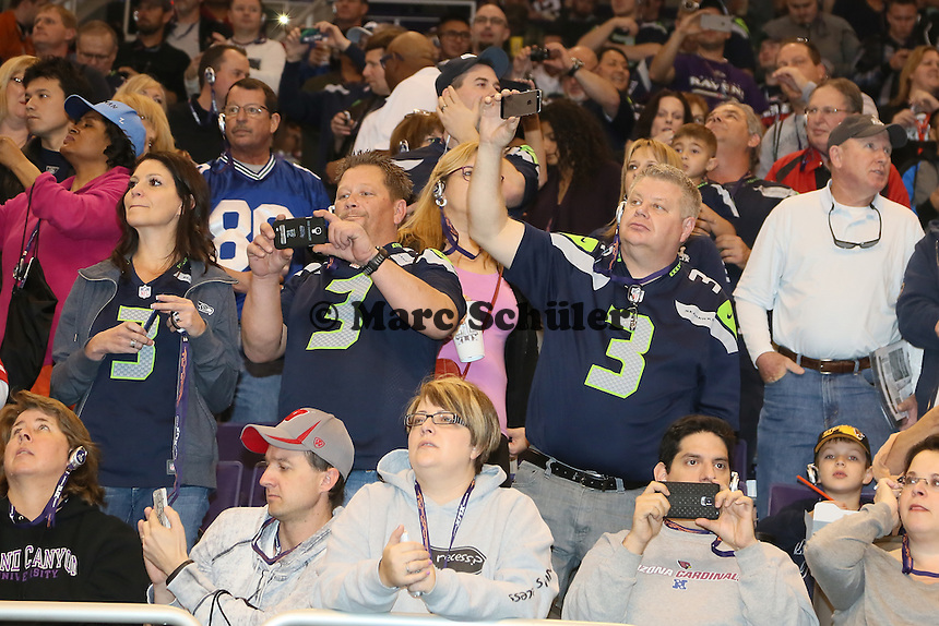 Fans der Seatte Seahawks - Super Bowl XLIX Media Day, US Airways Center, Phoenix