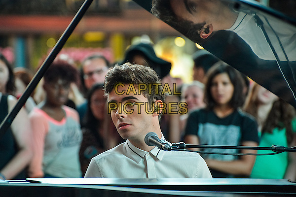 NEW YORK, NY - JULY 23: Former member of The Wanted, Nathan Sykes, seen on set of his new music video &quot;Famous&quot; in Times Square, New York City, New York on July 23, 2015.  <br /> CAP/MPI/mpi67<br /> &copy;mpi67/MediaPunch/Capital Pictures