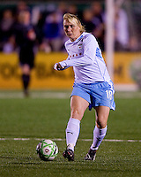 Chicago Red Stars midfielder Frida Ostberg (18). Saint Louis Athletica were defeated 1-0 by Chicago Red Stars in which was both teams inaugural game, played at Korte Stadium, Edwardsville, Illinois on April 4, 2009. Photo by Scott Rovak /isiphotos.com