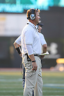 Towson, MD - September 9, 2016: Towson Tigers head coach Rob Ambrose during game between Towson and St. Francis at Minnegan Field at Johnny Unitas Stadium  in Towson, MD. September 9, 2016.  (Photo by Elliott Brown/Media Images International)