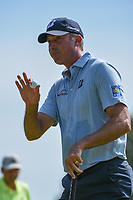 Matt Kuchar (USA) after sinking his putt on 1 during round 3 of the WGC FedEx St. Jude Invitational, TPC Southwind, Memphis, Tennessee, USA. 7/27/2019.<br /> Picture Ken Murray / Golffile.ie<br /> <br /> All photo usage must carry mandatory copyright credit (© Golffile | Ken Murray)