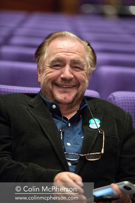 Scottish Hollywood actor Brian Cox, pictured at a press conference at the Edinburgh International Conference Centre, on the 17th anniversary of the Scottish devolution referendum. The event was staged as part of the Yes pro-Scottish independence campaign in the lead up to the referendum on Scotland's future in the United Kingdom. On the 18th of September 2014, the people of Scotland voted in a referendum to decide whether the country's union with England should continue or Scotland should become an independent nation once again and leave the United Kingdom.