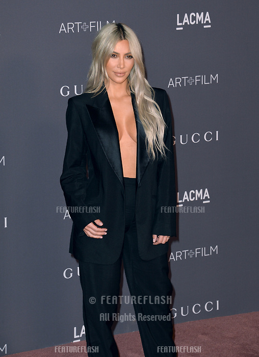 Kim Kardashian at the 2017 LACMA Art+Film Gala at the Los Angeles County Museum of Art, Los Angeles, USA 04 Nov. 2017<br /> Picture: Paul Smith/Featureflash/SilverHub 0208 004 5359 sales@silverhubmedia.com