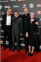 Dr. Bonaventura Clotet, Director of Fundacion Lucha Contra el SIDA (l); singer Miguel Bose (2r) and the spanish sculptor Jaume Plensa with his wife during Barcelona 5th AIDS Ceremony. November 24,2014.(ALTERPHOTOS/Acero) /NortePhoto<br />