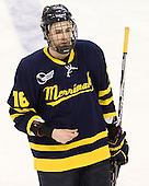 Jesse Todd (Merrimack - 16) - The Boston College Eagles defeated the Merrimack College Warriors 4-2 to give Head Coach Jerry York his 900th collegiate win on Friday, February 17, 2012, at Kelley Rink at Conte Forum in Chestnut Hill, Massachusetts.