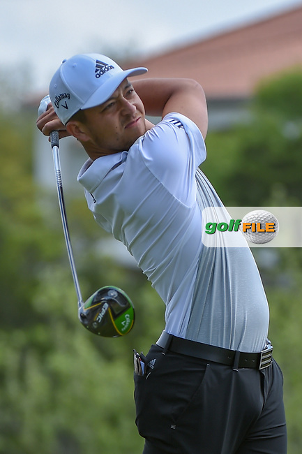 Xander Schauffele (USA) watches his tee shot on 3 during day 2 of the WGC Dell Match Play, at the Austin Country Club, Austin, Texas, USA. 3/28/2019.<br /> Picture: Golffile | Ken Murray<br /> <br /> <br /> All photo usage must carry mandatory copyright credit (© Golffile | Ken Murray)
