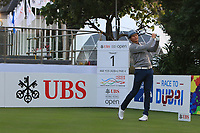 Tapio Pulkkanen (FIN) on the 1st tee is the first player to tee off the 2018 season during Round 1 of the UBS Hong Kong Open, at Hong Kong golf club, Fanling, Hong Kong. 23/11/2017<br /> Picture: Golffile | Thos Caffrey<br /> <br /> <br /> All photo usage must carry mandatory copyright credit     (&copy; Golffile | Thos Caffrey)