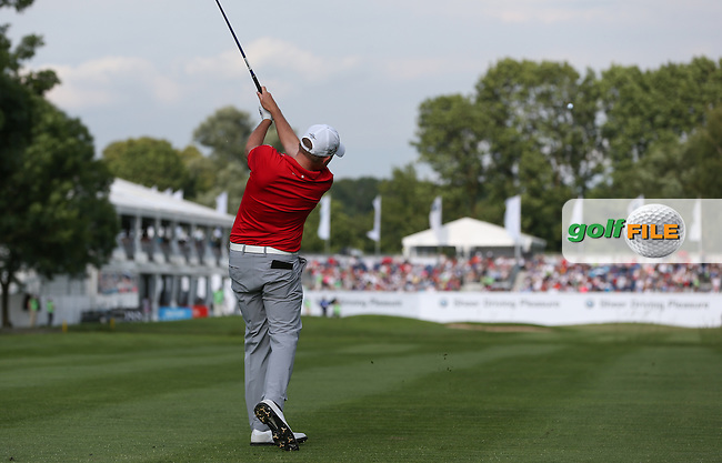 Playing approach shot to the last, James Morrison (ENG) sets a 2-shot lead over the field with a 67 during Round Three of the 2015 BMW International Open at Golfclub Munchen Eichenried, Eichenried, Munich, Germany. 27/06/2015. Picture David Lloyd | www.golffile.ie