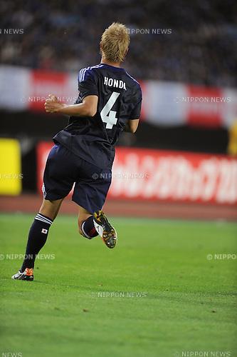 Keisuke Honda (JPN),<br /> AUGUST 14, 2013 - Football / Soccer :<br /> Kirin Challenge Cup 2013 match between Japan 2-4 Uruguay at Miyagi Stadium in Miyagi, Japan. (Photo by Takahisa Hirano/AFLO)