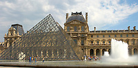 Glass pyramid entrance of the Louvre Paris