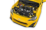 Car Stock 2015 Scion FR-S Release 2 Door Coupe Engine high angle detail view