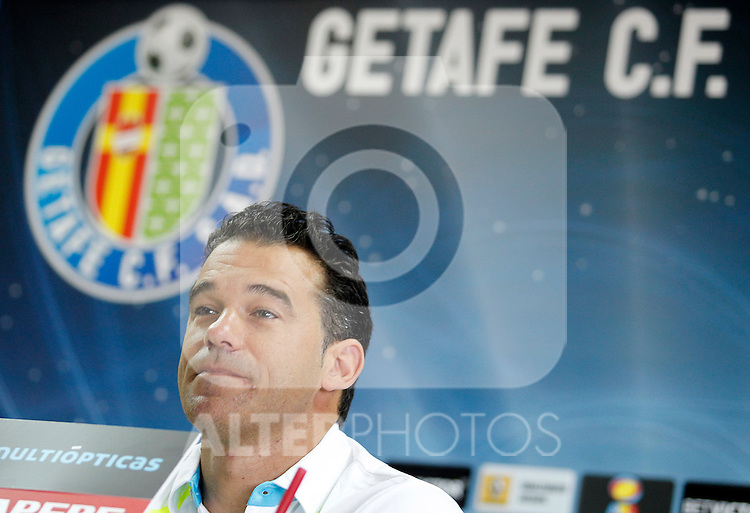 Getafe's coach Luis Garcia in press conference. July 7, 2011. (ALTERPHOTOS/Acero)