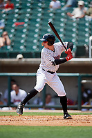 Birmingham Barons designated hitter Zack Collins (24) at bat during a game against the Pensacola Blue Wahoos on May 9, 2018 at Regions FIeld in Birmingham, Alabama.  Birmingham defeated Pensacola 16-3.  (Mike Janes/Four Seam Images)