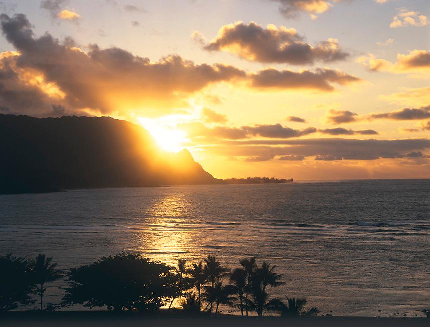 Sunset over Makana