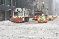 NEW YORK, NY, 14.03.2017 - CLIMA-NEW YORK - Vista de Manhattan em New York nos Estados Unidos durante a Nevasca Stella considerada a maior tempestade de neve dos últimos anos provocando cancelamento de quase 7.000 voos segundo a CNN. (Foto: William Volcov/Brazil Photo Press)