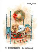 GIORDANO, CHRISTMAS ANIMALS, WEIHNACHTEN TIERE, NAVIDAD ANIMALES, paintings+++++,USGI1659,#XA# dogs,puppies
