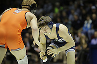 STATE COLLEGE, PA -DECEMBER 19: Jimmy Gulibon of the Penn State Nittany Lions during a match against Kevin Norstrem of the Virginia Tech Hokies on December 19, 2014 at Recreation Hall on the campus of Penn State University in State College, Pennsylvania. Penn State won 20-15. (Photo by Hunter Martin/Getty Images) *** Local Caption *** Jimmy Gulibon;Kevin Norstrem