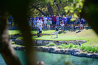 Zach Johnson (USA) hits from the drop area on 11 after driving into the water during round 4 of the World Golf Championships, Dell Technologies Match Play, Austin Country Club, Austin, Texas, USA. 3/25/2017.<br /> Picture: Golffile | Ken Murray<br /> <br /> <br /> All photo usage must carry mandatory copyright credit (&copy; Golffile | Ken Murray)