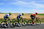 The breakaway featuring Michael Schär (SUI) CCC Team, Yoann Offredo (FRA) and Frederik Backaert (BEL) Wanty-Gobert Cycling Team during Stage 4 of the 2019 Tour de France running 213.5km from Reims to Nancy, France. 9th July 2019.<br /> Picture: ASO/Pauline Ballet | Cyclefile<br /> All photos usage must carry mandatory copyright credit (© Cyclefile | ASO/Pauline Ballet)