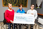 Mary Shanahan of the Kerry Hospice Pallative Care Unit receives a cheque from Betty O&rsquo;Connell of Kearneys Bar in the amount of &euro;1000 in the bar on Tuesday night from the proceeds of tea/coffee donations in the bar and on reaching a &euro;1000 it is then given to a charity.<br /> L to r: Mary Shanahan (Kerry Hospice), Betty O&rsquo;Connell of Kearneys Bar and Mark Sugrue.