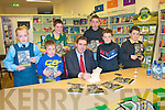 "Book Signing: Pictured with Darragh O'Shes signing his book ""My Story""at Woulfe's Book shop in Listowel on Thuesday afternoon last were Jane Houlihan, Oisin Mahony, Keuth Hannon, Padraigh O'Connell,Adam O'Rourke & Sean O'Connell-Walsh."