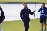 Tyrell Hatton Team Europe misses his putt to save the match on the 18th green during Friday's Fourball Matches at the 2018 Ryder Cup, Le Golf National, Iles-de-France, France. 28/09/2018.<br /> Picture Eoin Clarke / Golffile.ie<br /> <br /> All photo usage must carry mandatory copyright credit (© Golffile | Eoin Clarke)