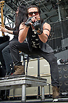 Leigh Kakaty of Pop Evil performs during the 2013 Rock On The Range festival at Columbus Crew Stadium in Columbus, Ohio.