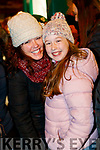 Yvonne and Elsa Daly enjoying the Christmas parade in Killarney on Saturday night.