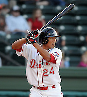 April 24, 2008: Outfielder Che-Hsuan Lin (24) of the Greenville Drive, Class A affiliate of the Boston Red Sox, in a game against the Asheville Tourists at Fluor Field at the West End in Greenville, S.C. Photo by:  Tom Priddy/Four Seam Images