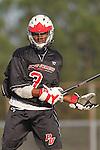 Palos Verdes, CA 03/30/10 - Roman Smith (Palos Verdes #3) in action during the Palos Verdes-Peninsula JV Boys Lacrosse game.