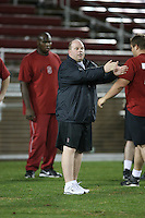 """9 February 2007: Lance Anderson during a """"Friday Night Lights"""" practice at Stanford Stadium in Stanford, CA."""