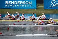 Sarasota. Florida USA.  Race for the line as the women's four close in on the finish line,  USA W4-, Bow. Molly BRUGGEMAN, Kristine O'BRIEN, Erin REELICK and Kendall CHASE Final A.at the  2017 World Rowing Championships, Nathan Benderson Park<br /> <br /> Saturday  30.09.17   <br /> <br /> [Mandatory Credit. Peter SPURRIER/Intersport Images].<br /> <br /> <br /> NIKON CORPORATION -  NIKON D4S  lens  VR 500mm f/4G IF-ED mm. 200 ISO 1/2500/sec. f 4