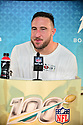 MIAMI, FL - JANUARY 27: San Francisco 49ers Defensive Tackle Joe Staley (#74) answers questions from the media during the NFL Super Bowl ( LIV)(54) Opening Night at Marlins Park on January 27, 2020  in Miami, Florida. ( Photo by Johnny Louis / jlnphotography.com )