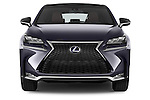 Car photography straight front view of a 2015 Lexus NX 300h F Sport 4WD 5 Door SUV 4WD Front View