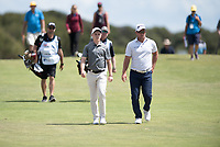 Conor Purcell (IRL) and Ryan Fox (NZL) during the 2nd round of the VIC Open, 13th Beech, Barwon Heads, Victoria, Australia. 08/02/2019.<br /> Picture Anthony Powter / Golffile.ie<br /> <br /> All photo usage must carry mandatory copyright credit (© Golffile | Anthony Powter)