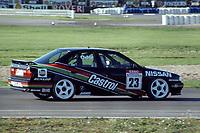 Round 13 of the 1991 British Touring Car Championship. #23 Kieth O'dor (GBR). Nissan Janspeed Racing. Nissan Primera eGT.