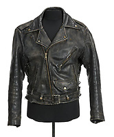"COPY BY TOM BEDFORD<br /> Pictured: A black leather motorcycle jacket worn by Patrick Swayze as Johnny Castle in Dirty Dancing (Great American Films, 1987) and as Chuck ""Tiger"" Warsaw in Tiger Warsaw (Continental, 1988) and in promotional images for Dirty Dancing.<br /> Re: The iconic black leather jacket worn by Patrick Swayze in the hit film Dirty Dancing has sold for $50,000 (£38,612) at auction.<br /> It was bought by a fan after the tragic actor's wife decided to sell his movie memorabilia. <br /> The jacket had a reserve of just $6,000(£4,630) at the auction in Los Angeles but an internet bid of $25,000(£19,300) was received before the auction started.<br /> The salesroom erupted with applause when the hammer came down at $50,000.<br /> Auctioneer Darren Julien said: ""We always knew it would fetch big bucks.<br /> ""The jacket is the holy grail for Patrick Swayze fans and there are a lot out there.""  <br /> The heart throb actor wore the James Dean-style jacket throughout Dirty Dancing including the  scene where he says: ""Nobody puts Baby in a corner"".<br /> The jacket belonged to Swayze before the movie was made in 1987.<br /> Dirty Dancing was a low-budget movie and most of the clothes Swayze's wore were his own, including the leather jacket.<br /> Mr Julien said: ""Because it was his jacket he got to keep it after the movie and wore it whenever he felt like it."