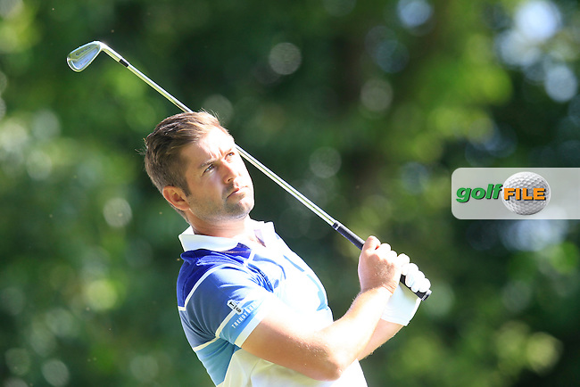 Robert ROCK (ENG) during round 1 of the 2015 BMW PGA Championship over the West Course at Wentworth, Virgina Water, London. 21/05/2015<br /> Picture Fran Caffrey, www.golffile.ie:
