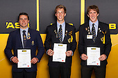 Boys Rowing finalists Campbell Rhodes, Adam Smith and Lewis Van Velthooven. ASB College Sport Young Sportsperson of the Year Awards held at Eden Park, Auckland, on November 24th 2011.