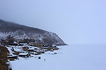 Angasolka village on the southewt part of the baikal lake