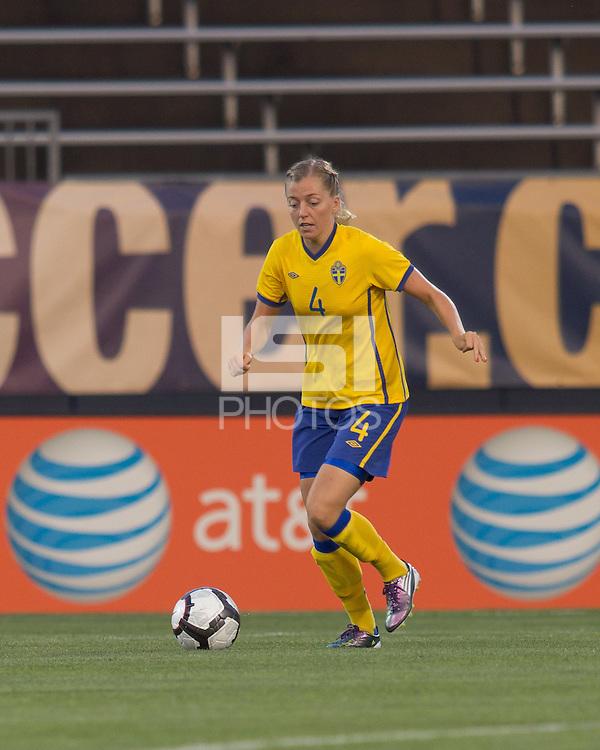 Sweden defender Linda Sembrant (4). The US Women's national team beat Sweden, 3-0, at Rentschler Field on July 17, 2010.