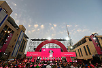 UAE Team Emirates on stage at the Team Presentation before the 101st edition of the Giro d'Italia 2018. Jerusalem, Israel. 3rd May 2018.<br /> Picture: LaPresse/Fabio Ferrari | Cyclefile<br /> <br /> <br /> All photos usage must carry mandatory copyright credit (&copy; Cyclefile | LaPresse/Fabio Ferrari)