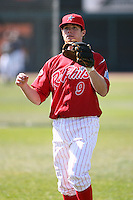 May 29th 2008:  Jason Donald of the Reading Phillies, Class-AA affiliate of the Philadelphia Phillies, during a game at Jerry Uht Park in Erie, PA.  Photo by:  Mike Janes/Four Seam Images