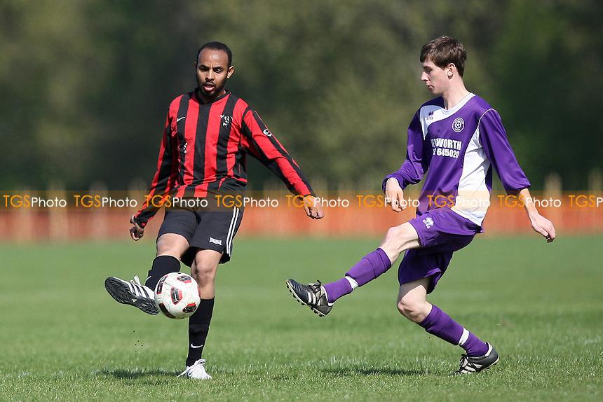 William Fitt Tigers (purple) vs Concordia (red/black) - East London Sunday League Football at South Marsh, Hackney Marshes - 10/04/11 - MANDATORY CREDIT: Gavin Ellis/TGSPHOTO - Self billing applies where appropriate - Tel: 0845 094 6026