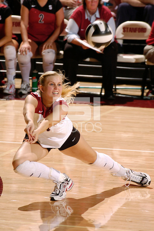 17 Sep 2005: Courtney Schultz during Stanford's 3-0 win over UCSB at Maples Pavilion in Stanford, CA.