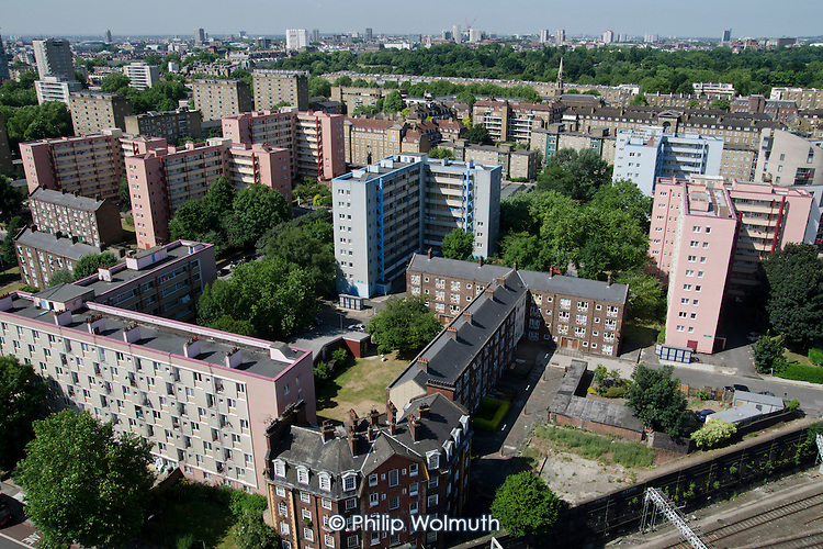 Parts of Camden Council's Regents Park Estate, adjacent to Euston station, are scheduled for demolition under current plans for the London terminal of the HS2 high speed train line.