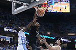 CHAPEL HILL, NC - DECEMBER 03: Tulane's Melvin Frazier (35) dunks the ball. The University of North Carolina Tar Heels hosted the Tulane University Green Wave on December 3, 2017 at Dean E. Smith Center in Chapel Hill, NC in a Division I men's college basketball game. UNC won the game 97-73.
