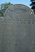 Headstone at Chester Village Cemetery in Chester, New Hampshire.