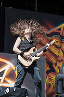Thrash metal legends Anthrax performing at Soundwave Festival 2013, Flemington Racecouse, Melbourne, 1 March 2013